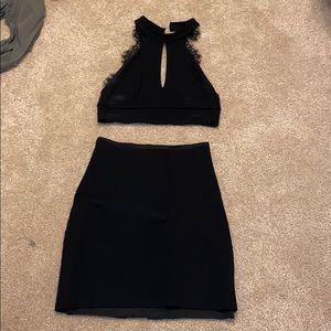 Lulus black two piece set